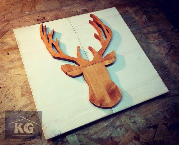 Popiersie jelenia #woodwork #wooddecor #decor #decorations #design #cool #homemade #homedecor #handmade #