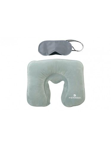 Μαξιλάρι Φουσκωτό Και Μάσκα Ύπνου Ferrino Σετ | www.lightgear.gr