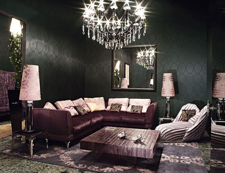 hollywood luxe italian designer purple leather sectional sofa more luxury hollywood interior design inspirations to pin. beautiful ideas. Home Design Ideas