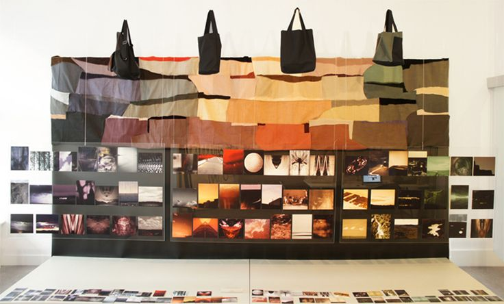 The 'Find your color' installation in the studio in Amsterdam