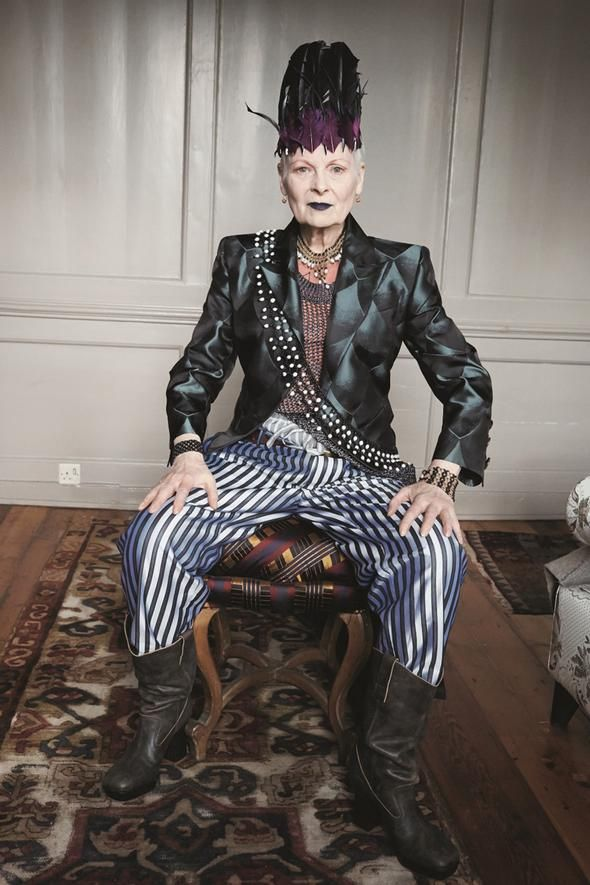 "Vivienne Westwood   ""First you have to know who you are—or want to be. Then you have to use your clothes to tell your personal story. And be confident. I've never worried about what other people think of me. You have to cut a figure. Step off the treadmill of fashion."