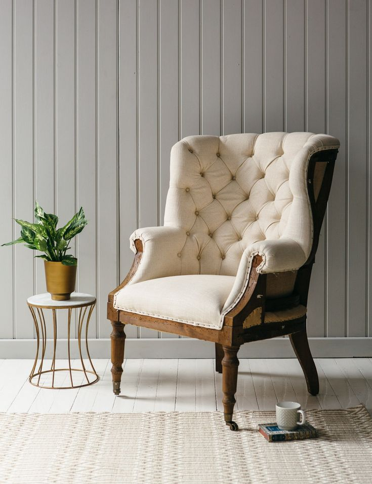 Rose and Grey Armchair