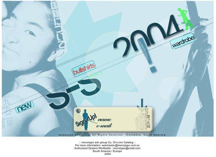 Ecommerce MONOTYPE - Año ©2004