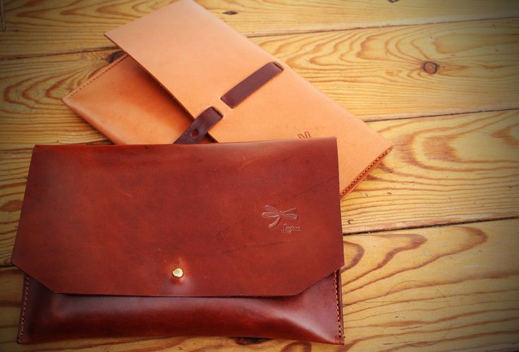 Handmade Leather Clutch.The best leather and Ludena design. Handbag, Minimalist, brown leather.