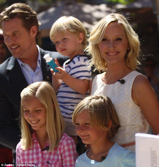 Picture perfect: Anne Heche and James Tupper and family