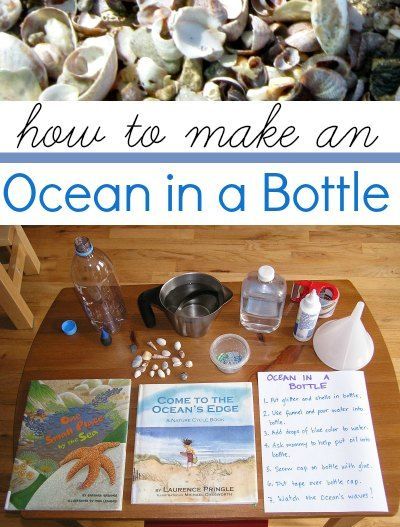 Fun way to learn about the science of ocean and tides. Make an ocean in a bottle.