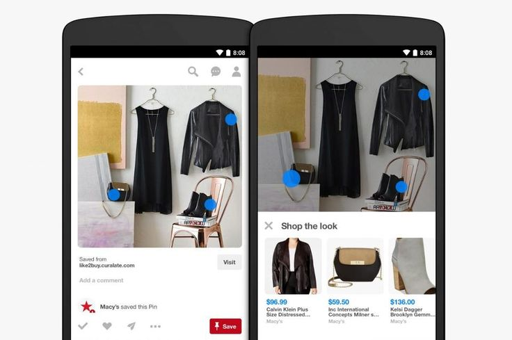 A preview of Pinterest's new Shop the Look feature, one of three new visual search tools the company unveiled on Wednesday. (Courtesy of Pinterest)