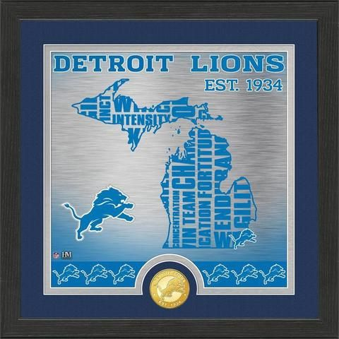 NFL Detroit Lions State Bronze Coin Photo Mint