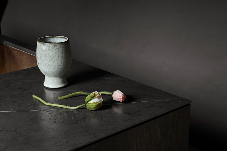 Details from Store Kongensgade: Ebonized oak and marble