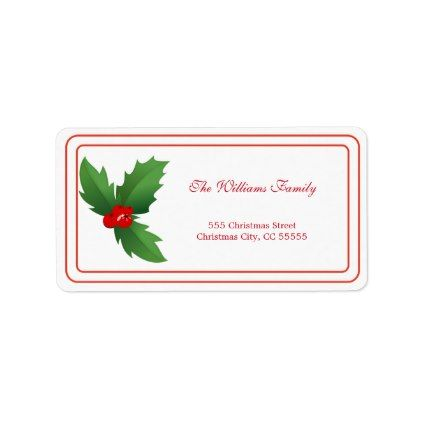 Simple Merry Christmas Address Label - Xmas ChristmasEve Christmas Eve Christmas merry xmas family kids gifts holidays Santa