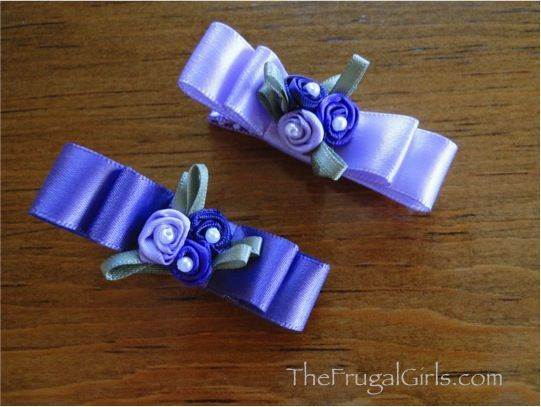 Easy Double Ribbon Spring Hair Bow Clips at TheFrugalG #hairbows #Romantic Valentine| http://romanticvalentinedays.blogspot.com