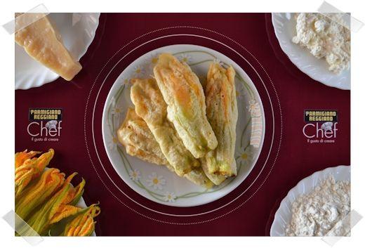 FIORI DI ZUCCA CON PARMIGIANO E RICOTTA fragolaelettrica.com Le ricette di Ennio Zaccariello #Ricetta