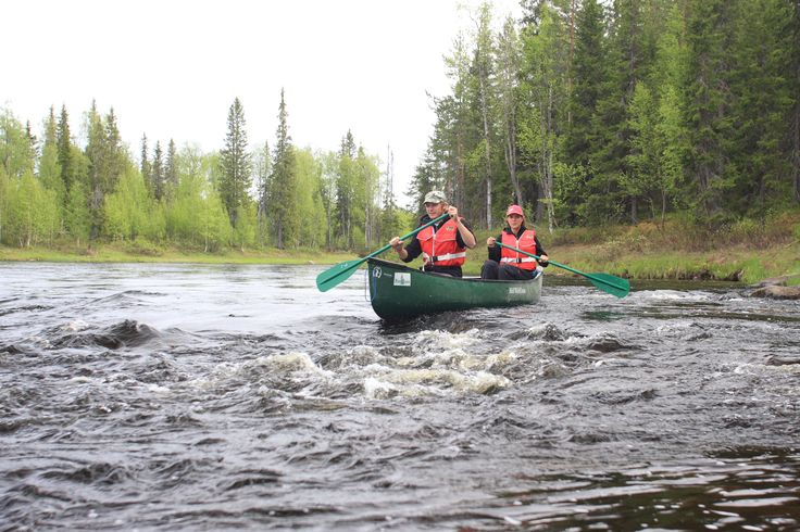 Canoeing on the river Iijoki, Taivalkoski, Lapland, Finland www.visittaivalkoski.fi