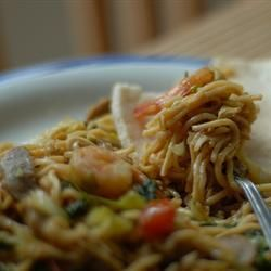 Fried Chicken and vegetable Noodles