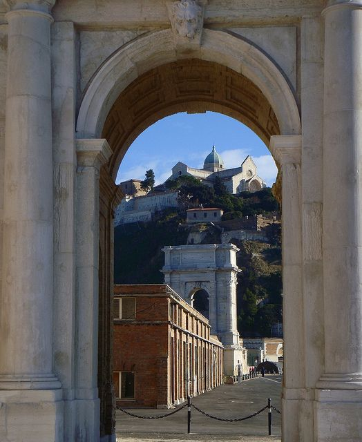 Cathedral of Ancona through the Clementino Arch - Ancona,province of Ancona Marche region, Italy