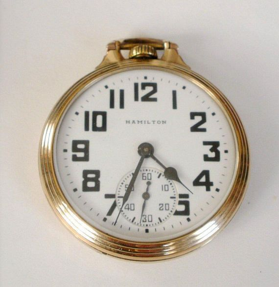 Hamilton 992B Pocket Watch 21 Jewels Railroad Pocket Watch