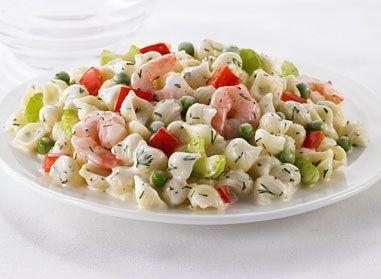 Découvrez notre délicieuse recette de salade de coquilles et crevettes.