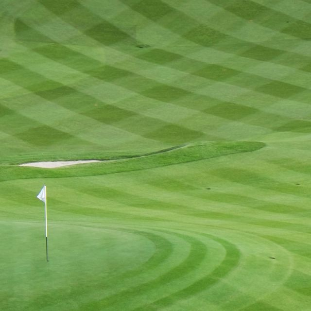 A #tartan #golf course, genius. See more live coverage on our Ryder Cup hub: http://www.canali.com/en/ryder-cup-2014?utm_source=pinterest&utm_medium=social&utm_content=post&utm_campaign=ryder-cup   #RyderCup #Canali #checks #sports