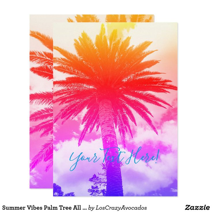 Summer Vibes Palm Tree All Purpose Invitation Card