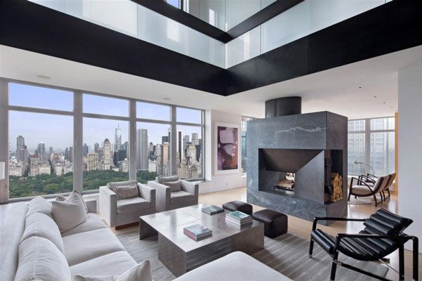 Duplex Manhattan penthouse in New York 2 Spectacular Manhattan Penthouse With Impressive City Views