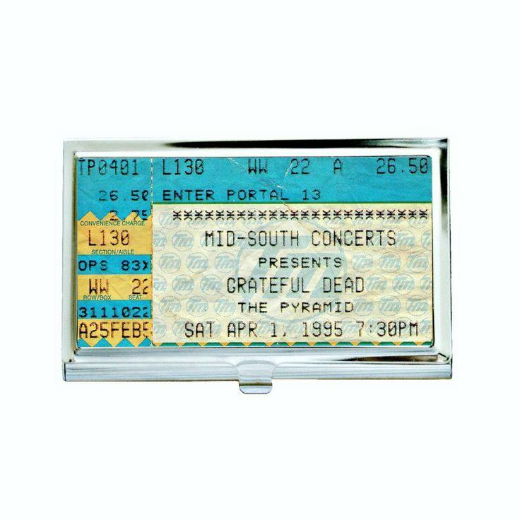 Vintage Grateful Dead Concert Ticket Business Card Case
