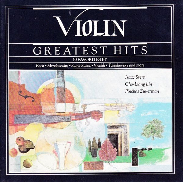 1989 Violin Greatest Hits (CBS Masterworks) [CBS MLK45521 07464455212] cover illustration by Michael Ng #albumcover