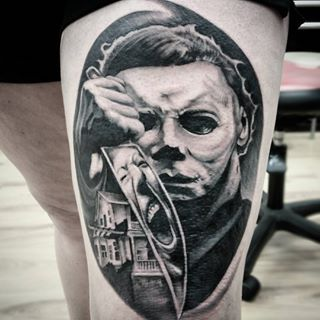 204 best halloween john carpenter tattoos images on for Michael myers tattoo