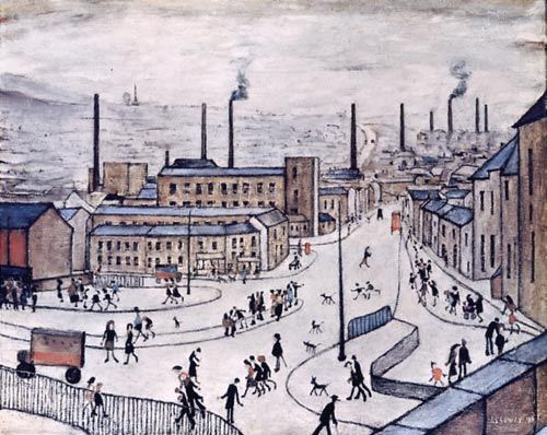 "byronreecejonesart: "" Huddersfield L.S. Lowry, 1965 Oil on canvas """