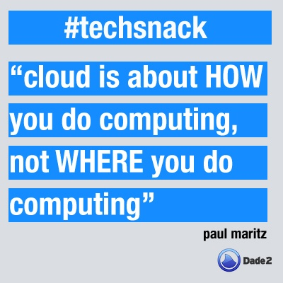 cloud is about How you do computing, not WHERE you do computing