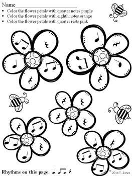 """SPRING"" INTO RHYTHM 4 - FLOWER PETALS EDITION - TeachersPayTeachers.com"