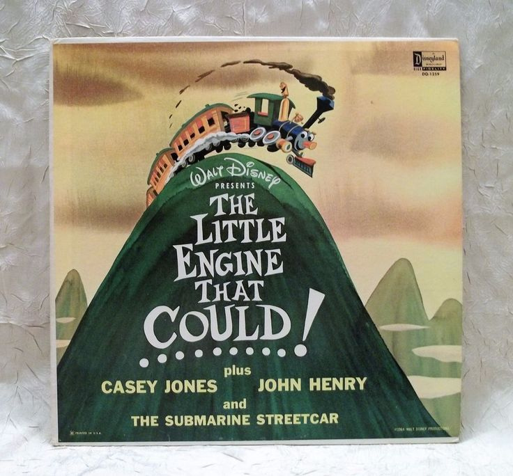 Vintage Walt Disney The Little Engine That Could LP Album Plus 3 Stories 1964