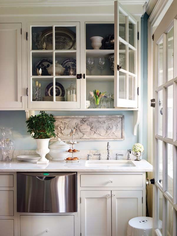 Cabinets, Kitchens and Marble counters on Pinterest