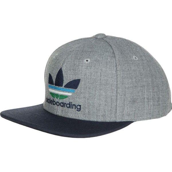 adidas Skate Snapback Hat ($26) ❤ liked on Polyvore featuring accessories, hats, adidas, snapback hats, adidas snapback, snap back hats and adidas hats