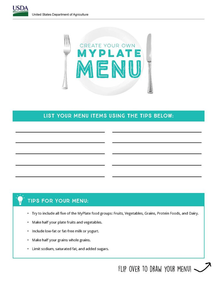 Let kids be the chef & plan your next meal!  #MyPlate