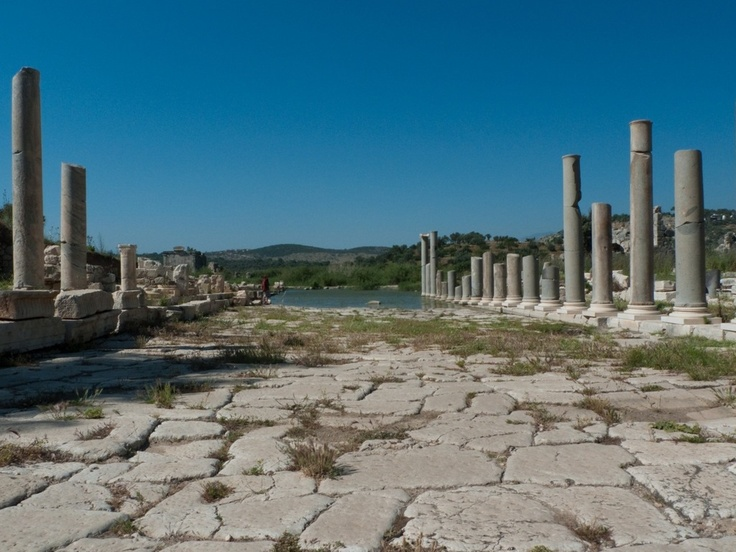 The Letoon sometimes Latinized as Letoum, was a sanctuary of Leto near the ancient city Xanthos that was one of the most important religious centres of the Lycian region in Anatolia. The site is located between the towns of Kaş and Fethiye in Antalya.