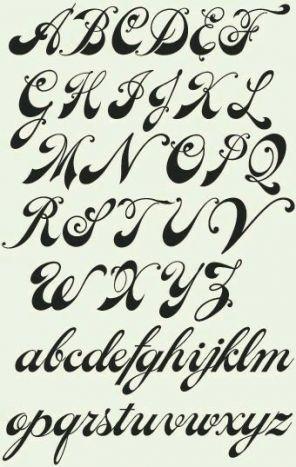 Tattoo Schriftarten Schreibschrift Kalligraphie 31+ Ideen