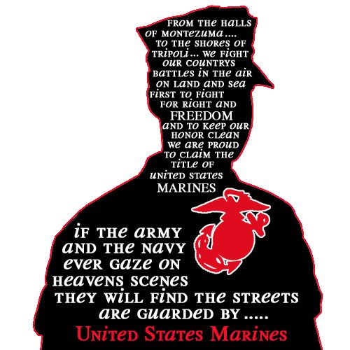 Heaven's streets are guarded by United States Marines.