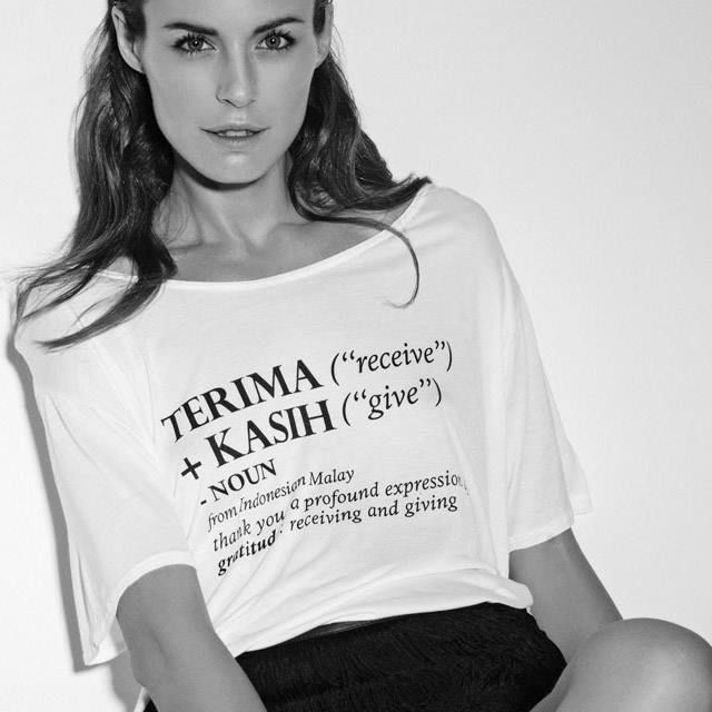 On Terima Kasih Gratitude Mode Our t-shirts charity styles are to raise funds with 100% of the profit going back to the children in our community. Thank you for your support. Available at stores and online shop: www.umaandleopold.com