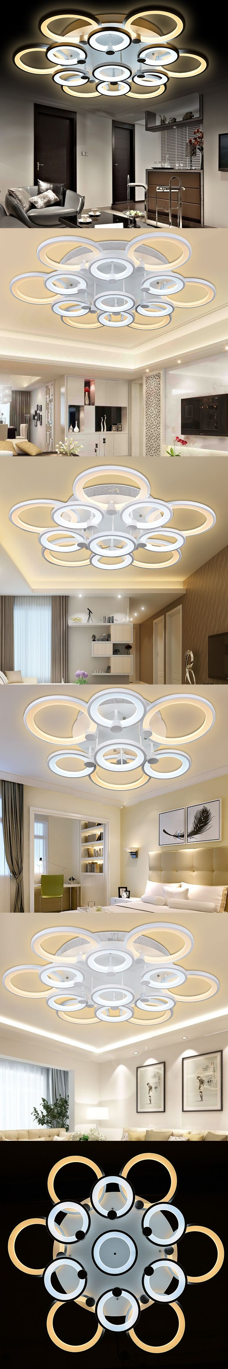 2016 Modern living room bedroom led ceiling lights home indoor decoration lighting light fixture modern acrylic led ceiling lamp $119