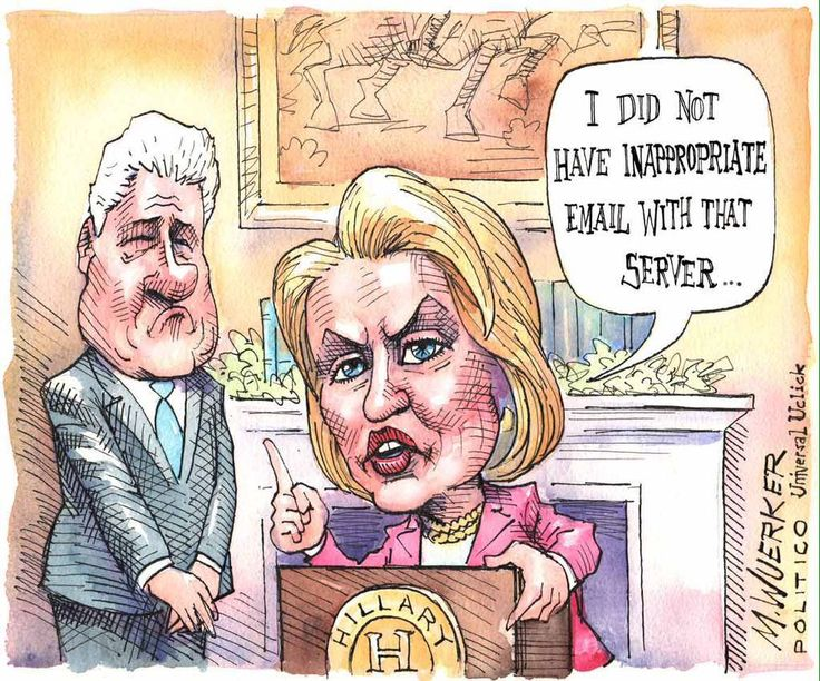 Image result for H. Clinton CARTOON