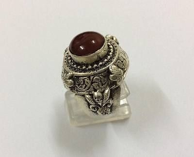 Near Eastern hand crafted intaglio ring Agate Carnelian Vintage Afghan Jewelry S  | eBay