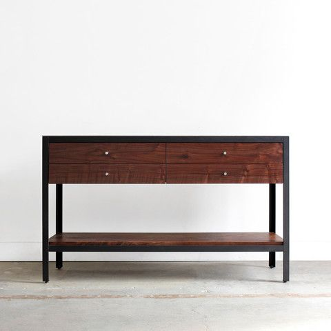 The Farmhouse Modern Sideboard is a modern twist on a classic piece. While traditionally meant for serving and storage, and usually found along the wall of a kitchen or dining area, this functional an