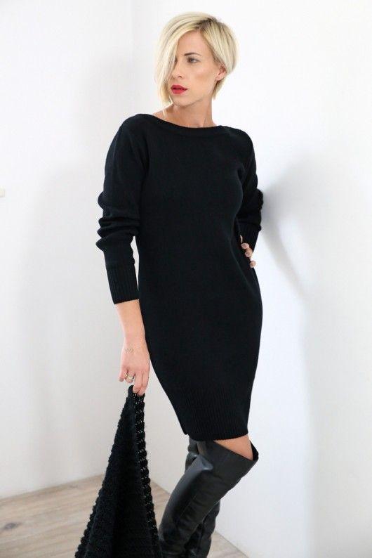 Sukienka Sexy Back czarna