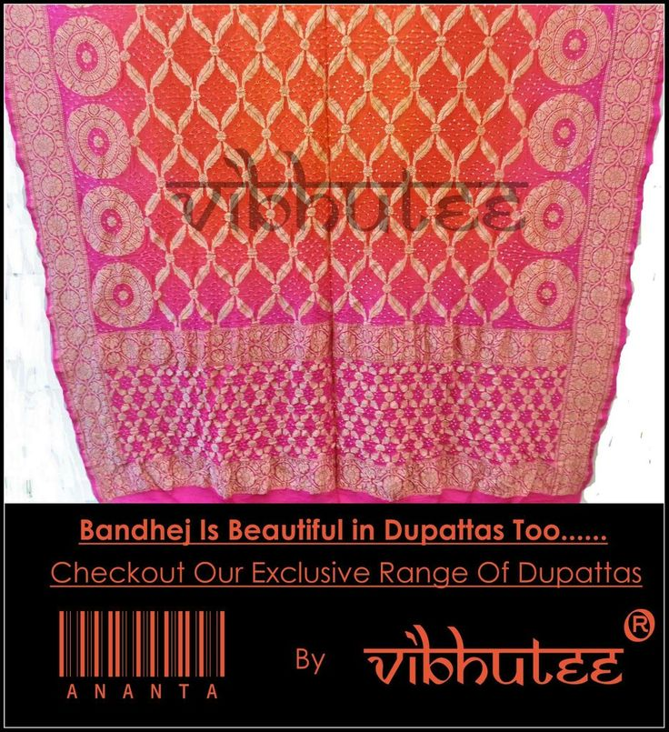 "Bandhej Looks Beautiful In Dupattas Too...!!! Exclusive Range Of Bandhani Dupattas From Our Collection ""ANANTA"" By Vibhutee Designer Sarees Studio  #ExclusivePost #Exclusive #Dupatta #DesignerDupatta #Surprise #Vibhutee #Mulund #MUmbai #India #WeddingDiaries #WeddingFashion #WeddingBells #TraditionalWear #Ananta #WinterFestive #CollectionLaunch #Collection #Bandhej #Bandhani #BandhaniDupatta #ExclusiveDupatta"