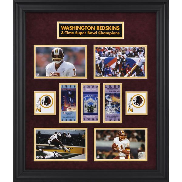 Washington Redskins Fanatics Authentic Framed Framed Super Bowl Ticket Collage-Limited Edition of 1000 - $149.99