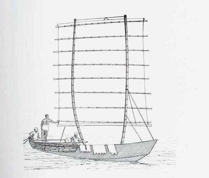 Dessin d 39 apr s une photographie ancienne ce bateau du - Dessin d un bateau ...