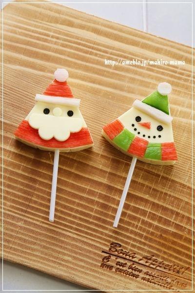 Cheese santa and snowman