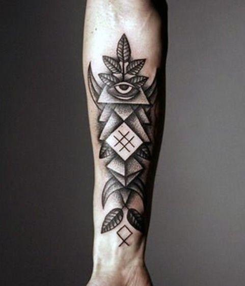 Forearm Cross Tattoo