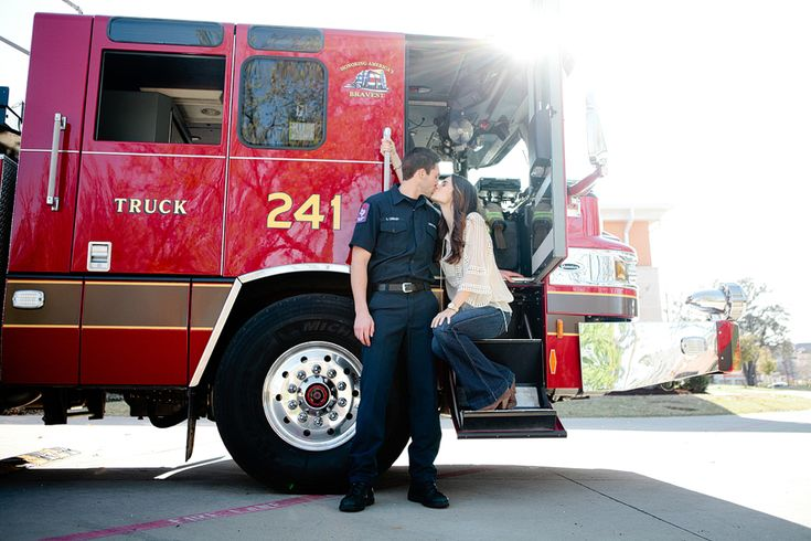 A firefighter engagement session by jennefer wilson