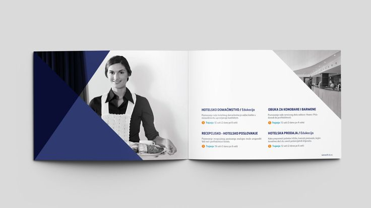 Detail of the spread for the HT Agency brochure design.